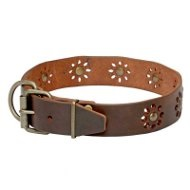 'Spring Mood' Leather Collar for Trendy Dogs