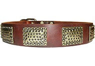 Luxury Leather Dog Collar for all dogs