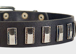Ornament Dog Collar made of leather for DOG