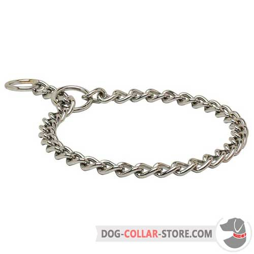 Chrome Plated Choke Chain Dog Collar
