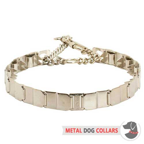 Well Done Neck Tech Metal Dog Collar