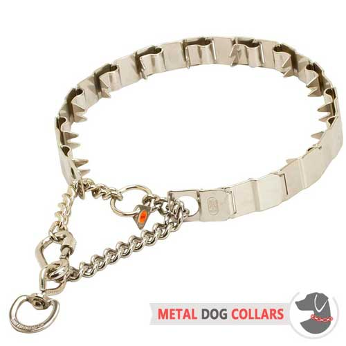 Stainless Steel Metal Dog Collar With Links