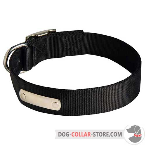 Dog Collar Nylon with Identification Plate