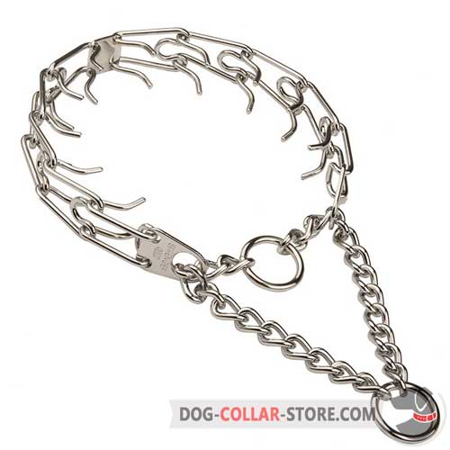 Chrome Plated Dog Pinch Collar