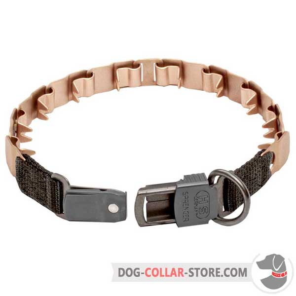 Neck tech collar: convenient buckle and D-ring