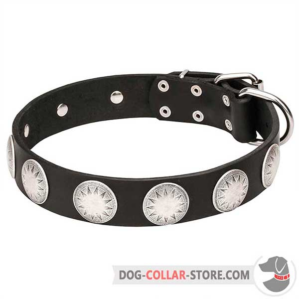 Dog Collar of durable genuine leather
