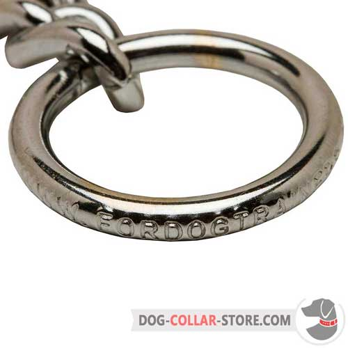 Big O-ring on Steel Chrome Plated Choke Dog Collar