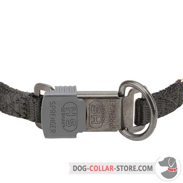 Plastic buckle of dog sport collar