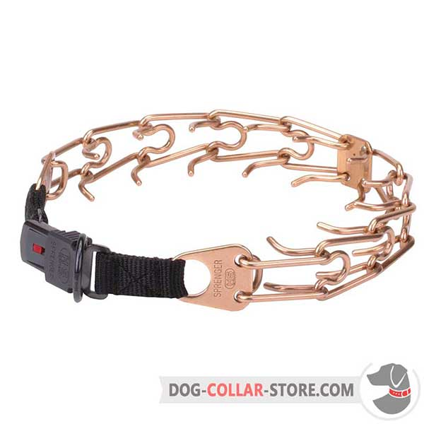 Dog     training pinch collar, extra strong alloy