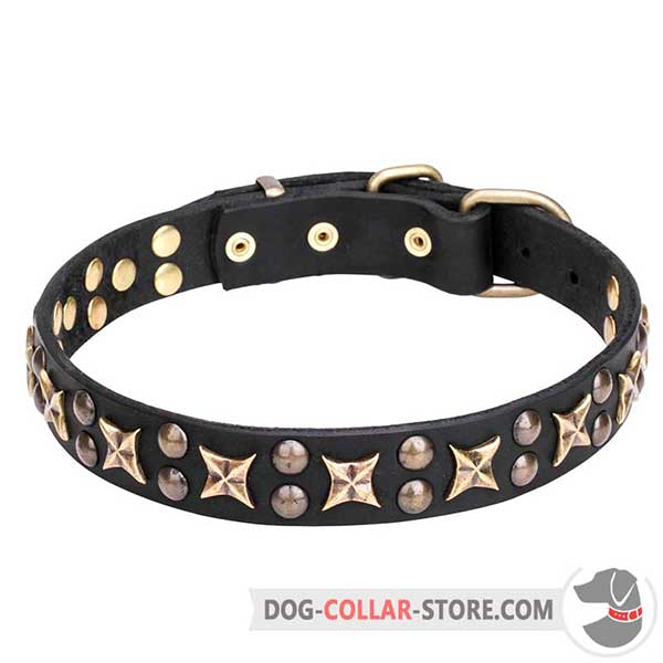 Canine Collar for walking made of leather