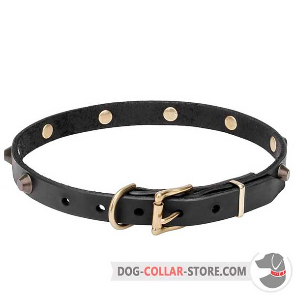Strong & Nice Dog Collar, soft leather