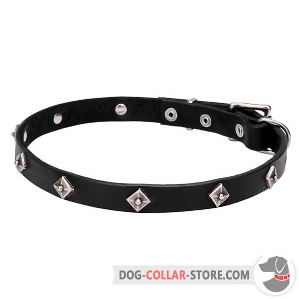 Narrow Dog Collar, A-grade leather