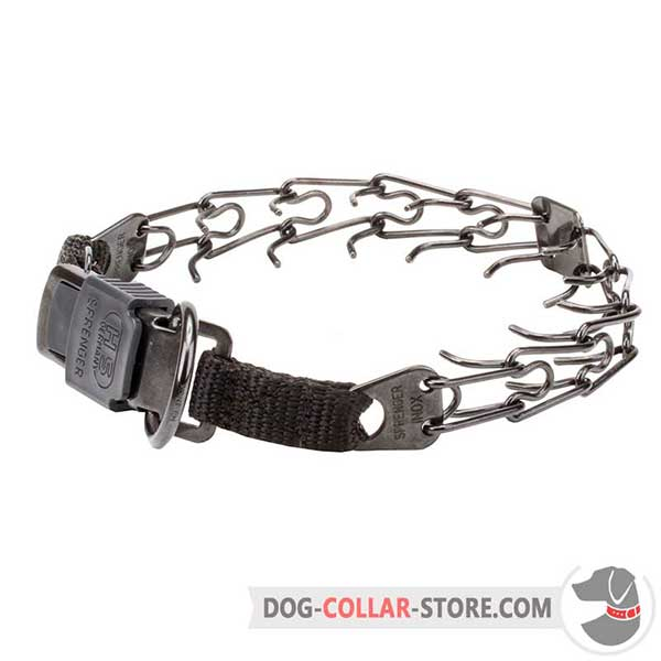 Dog prong collar with a prong's diameter 1/11 inch