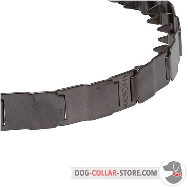 Neck tech for dog obedience training, removable links