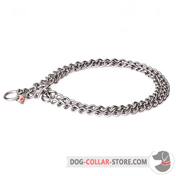 Dog Stainless Steel Martingale Collar for handling large breeds