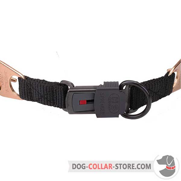 Metal click lock buckle of dog sport collar