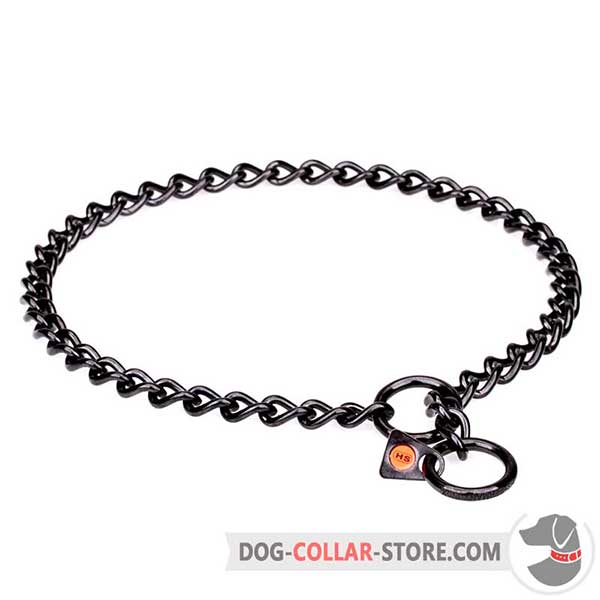 Dog Choke Collar of durable strainless steel, black