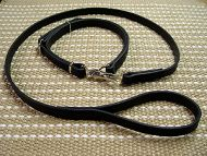 Adjustable Leather Dog Collar and Leash for Hunting and Police Service