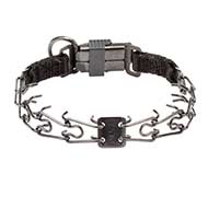 Dog Pinch Collar Made of Black Stainless Steel