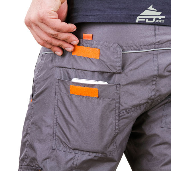 Comfy Design FDT Pro Pants with Useful Back Pockets for Dog Training