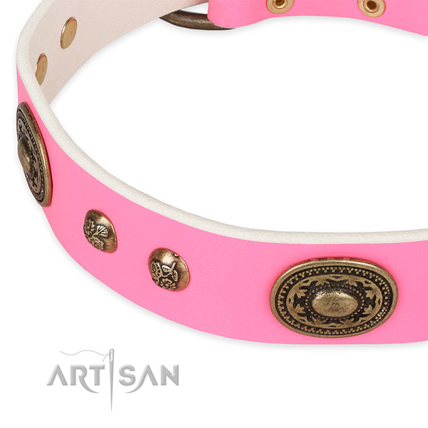 Stylish design leather collar for your beautiful dog