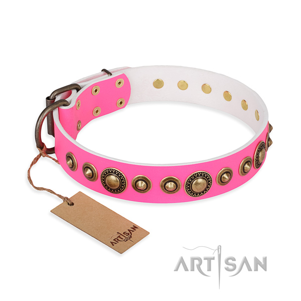Best quality leather collar created for your dog
