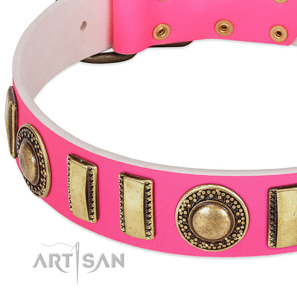 Best quality natural leather dog collar for your stylish pet