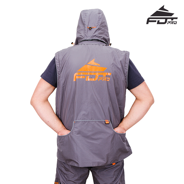 FDT Pro Dog Training Jacket with Back Pockets for your Convenience