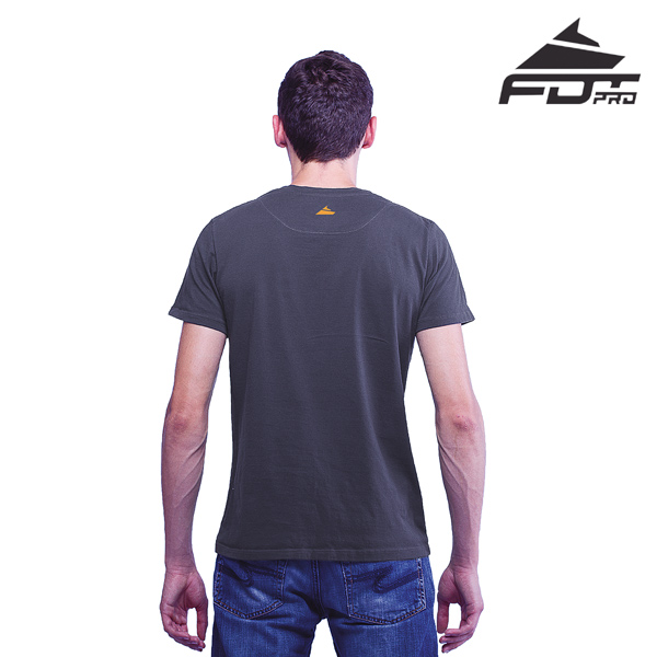 Men T-shirt of Dark Grey Pro for Dog Walking