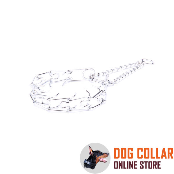 Finest quality chrome plated steel pinch collar for obedience training