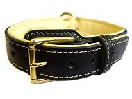 leather dog collar- k9 dog collar, police dog collar, training dog collar